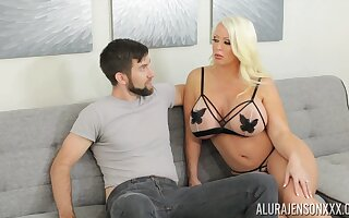 Alura is sex on legs and that tall MILF loves giving pot-head