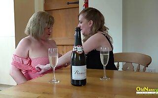 Mature ladies enjoying their seductive bodies increased by amazing lesbian berating skills