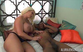Tall voluptuous cock slayer Alura Jenson loves interracial fuck
