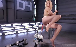 Solo blonde model Lily LaBeau moans while pleasuring her grasp the nettle