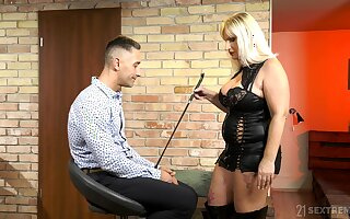 Dominant mature wants her nephew's dick less a rough femdom play