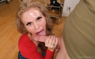 Untrained mature wife jests with the dick in a flawless POV