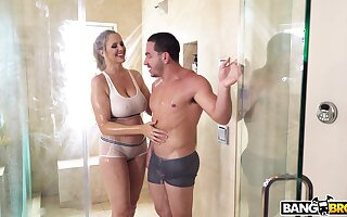 Mature mammy Julia Ann craves for a fat dick added to finds the pure one