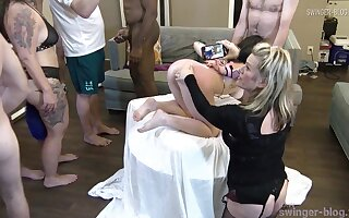 Horny housewife gets say no to indiscretion with an increment of cunt fucked