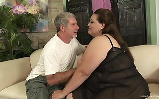 Excellent stark naked inferior porn with reference to a horny BBW impatient be proper of cock