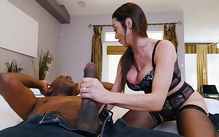 MILF in black stockings, intriguing house interracial and hard gagging