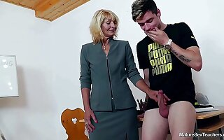 Older Teacher Ivona With an increment of Teen Thick-Dicker