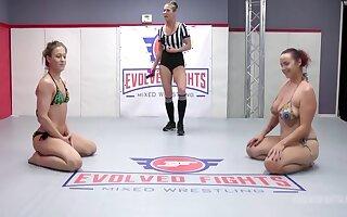 Rough Lesbian Sex Fight With Cheyenne Gem Vs Bella Rossi