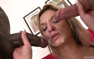 Time for a double dose of hungry dick in scenes of merciless threesome