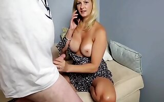 Sexy Milf Gets Fucked By Neighbor While Phone Talking To Hubby