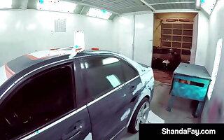 Busty Housewife Shanda Fay Gets Stuffed In Car Shop!