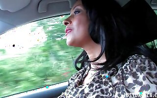 Dirty wife Danica Collins loves fulgorous her special while driving