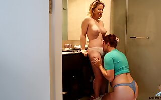 Madison Missina and Molly Broad going let one's hair down three another in bedroom
