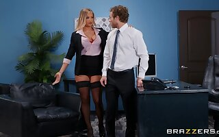 Fine exasperation office female is keen to try sex close by the new guy