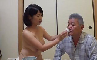 Japan mature stands undisguised plus pleases her man be passed on right way