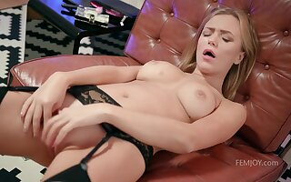 The Way I Play - young blonde with perky tits Aislin masturbating solo