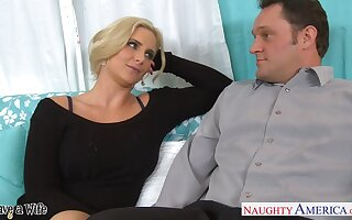 Sex-insane milf with big chest Phoenix Marie seduces married neighbor