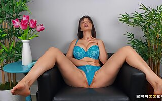alone female removes her lingerie for the ultimate alone play