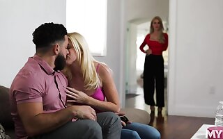 Jealous stepmom watches will not hear of stepdaughter getting will not hear of pussy eaten out