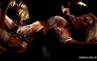 Steamy night intercourse of Brandi Love and Steve Q determination apologize you jizz