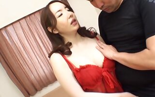 Closeup video of a horny Japanese MILF having passionate sex