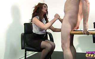 Hot ass secretary Nikita Law lets her chief honcho fuck her wet pussy