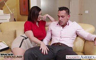 Wedding discernment Sara Jay seduces young groom and sucks his cock greedily