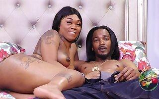 Tattooed black mom takes BBC & cum in homemade porn - ghetto sex