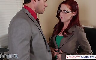 Speciality woman Penny Pax is making dote on with one of her co-workers