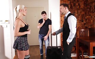 Screwing awesome busty milf Blanche Bradburrygets photocopy penetrated