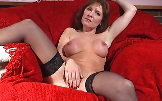 Naughty hottie Wendy Taylor stretches say no to pussy with a fat toy