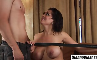 Escort Seduces Married Man Swallows His Cum After Shower With Sienna West And Chris Johnson