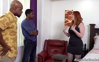Interracial mimic penetration trine with redhead Lauren Phillips