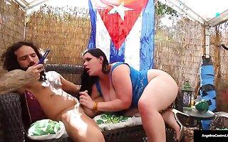 Cuban Beauty Angelina Castro Milks Her Cameraman With Neat Blowjob Skills!