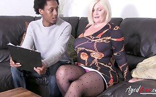 Crazy hot british lady seduced hyacinthine guy and was taken for hardcore ride