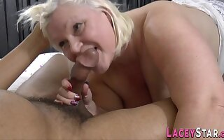 Busty Gran Lacey Starr Sucks Broad in the beam Black Cock - Lacey starr