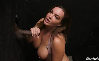 Glory hole perfection with the big tits milf