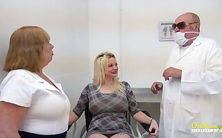 Examination of lesbian ladies and matures with sexual plot twist