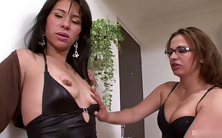 This sweet Latina lesbian couple love fucking each other