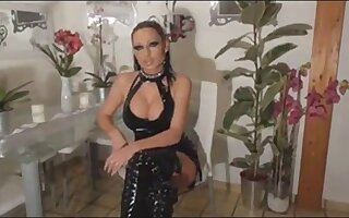 German milf sucking our dicks and deepthroating it to the balls!
