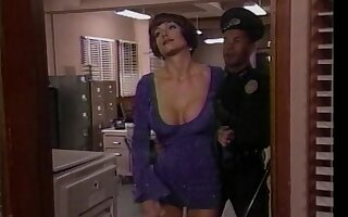 Close up video of a police officer fucking ass of Jeanne Fine