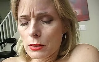 Aged dilettante plays with her moist twat until this babe cums