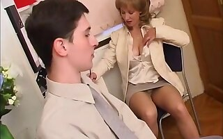 Russian Milf with young guy