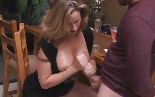 Hot Milf.when shy son help her vicious stepmom