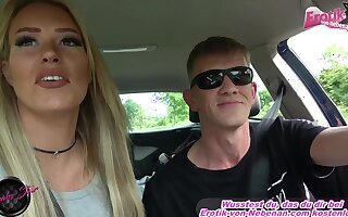 german blonde milf hitchiker outdoor fuck at car