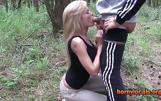 German MILF Assfucked and Facialized Outdoors