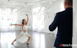 Ballerina plays crestfallen straight away feeling the stick in her frowardness