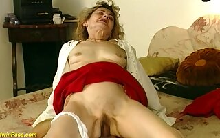 Hairy bush 81 years old german grandma gets wild and deep fucked nigh idiotic sex positions