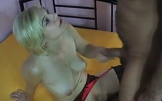 This salacious whore is so happy on every side drag inflate two cocks and she is a lingerie addict