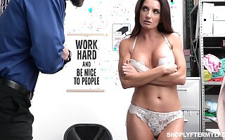 Shoplifting milf Silvia Saige gets punished fully realized the table